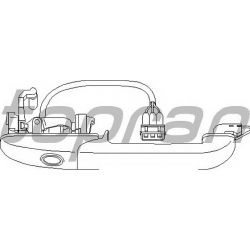 108 850 HP 108 850 KLAMKA ZEWN PRZOD PRAWA CENTRALNY ZAMEK VW PASSAT B4 OE 3A0837208C SZT HANS PRIES MULTILINIA HANS PRIES [943803]...