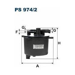 PS 974/2 F PS974/2 FILTR PALIWA CITROEN C5/C6 PEUGEOT 407 06 ; 2.2 HDI SZT FILTRY FILTRON [943824]...