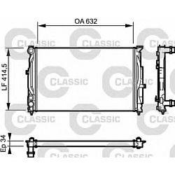 232361 V 232361 CHLODNICA AUDI A 4 / S 4 (94-): 1.6 I A +/-, 1.9 TDI D A +/-, 1.9 TDI D M -, 1.8 I TURBO 20V A +/-, VW SZT VALEO CHLODNICE [944101]...