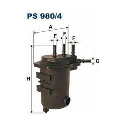 PS 980/4 F PS980/4 FILTR PALIWA RENAULT CLIO II/KANGOO/THALIA 1.5DCI DCI 98- SZT FILTRY FILTRON [944912]...