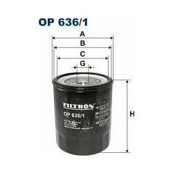 OP 636/1 F OP636/1 FILTR OLEJU MITSUBISHI CANTER 2,7D 2,8D 3,3D 3,6D/TD 4,2D SZT FILTRY FILTRON [945728]...