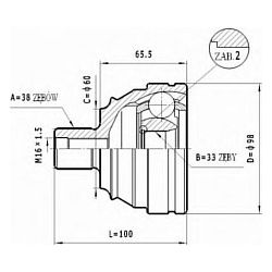 C.311 STA C.311 PRZEGUB HOMOKIN. ZEWN VW T4 -94 KPL. KPL STATIM PRZEGUBY STATIM [947665]...