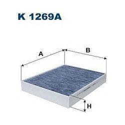 K 1269A F K1269A FILTR KABINOWY PORSCHE CAYENNE II/VW TOUAREG II WEGLOWY SZT FILTRY FILTRON [951319]...