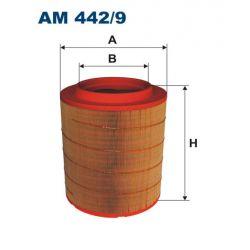 AM 442/9 F AM442/9 FILTR POWIETRZA VOLVO FH 420/460 05 ; 375X331X210 SZT FILTRY FILTRON [953325]...