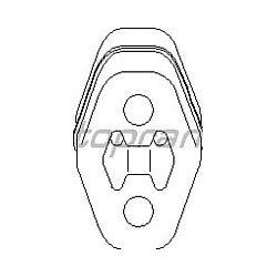 103 026 HP 103 026 WIESZAK TLUMIKA UCHWYT AUDI/ SEAT/ SKODA/ VW OE 1H0253147B SZT HANS PRIES MULTILINIA HANS PRIES [970944]...