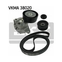 VKMA 38020 SKF VKMA38020 ZESTAW PASKA MICRO-V MERCEDES C-KLASA W202/C-S-KLASA 202/E-KLASA W210/E-S-KLASA 210/M-KLASA W163 97-05 SZT SKF ROLKI [1052881]...