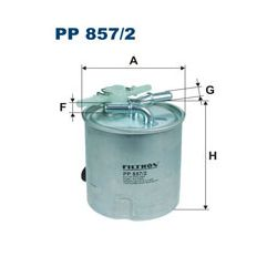 PP 857/2 F PP857/2 FILTR PALIWA NISSAN QASHQAI/X-TRAIL/RENAULT KOLEOS 1.5/2.0 DCI 07 ; SZT FILTRY FILTRON [1224177]...