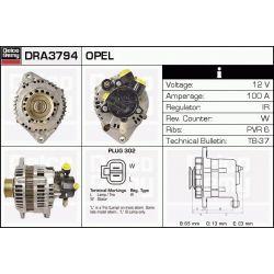 DRA3794N DR DRA3794N ALTERNATOR [NOWY] OPEL ASTRA G/CORSA C/COMBO/MERIVA 1.7 DTI/1.7 CDTI 00 SZT REMY ALTERNATORY I ROZRUSZNIKI REMY [1068755]...
