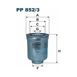 PP 852/3 F PP852/3 FILTR PALIWA MITSUBISHI ASX 1.8 DI-D 10 SZT FILTRY FILTRON [903089]...