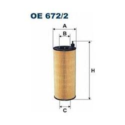 OE 672/2 F OE672/2 FILTR OLEJU BMW 116D/118D/1210D/123D/316D/318D/X1/X3 SZT FILTRY FILTRON [942058]...