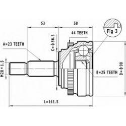 C.356 STA C.356 PRZEGUB HOMOKIN. ZEWN RENAULT LAGUNA 1,8/2,0 95-01 Z(+)ABS SZT STATIM STATIM PRZEGUBY (PG) (PK) STATIM [908494]...