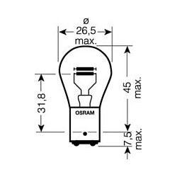 4008321413116 7528ULT ZAROWKA 12V P21/5W BAY15D /3 LATA GWARANCJI/ SZT OSRAM OSRAM ZAROWKI (PT) (BC) OSRAM [1393526]...