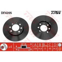 DF4205 TRW DF4205 TARCZA HAMULCOWA 239X15 P 4-OTW AUDI A2/VW LUPO 1.2/1.4TDI 99-05 SZT TRW TRW TARCZE (PM) (GR) TRW [1007901]...
