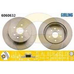 6060632 GIR 6060632 TARCZA HAMULCOWA 310X18 V 5-OTW LEXUS 300 430 450H 05 SZT GIRLING GIRLING TARCZE (PM) (PT) GIRLING [933758]...