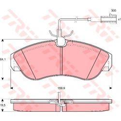 GDB1426 TRW GDB1426 KLOCKI HAMULCOWE CITROEN JUMPER/ FIAT DUCATO/ PEUGEOT BOXER GR.19,5MM* TRW KPL TRW [867215]...