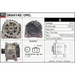 DRA4149 DR DRA4149 ALTERNATOR OPEL MOVANO/VIVARO/RENAULT LAGUNA II/TRAFIC II/MASTER 1.9 DCI/DTI CA 1645 DELCOREMY ALTERNATORY I ROZRUSZNIKI [886931]...
