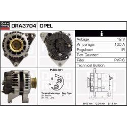 DRA3704N DR DRA3704N ALTERNATOR [NOWY] OPEL CALIBRA A/VECTRA A/B/OMEGA B 2/5/3.0 V6 CA 1070/ CA 1103/ CA 1507 DELCOREMY ALTERNATORY I ROZRUSZNIKI [886980]...