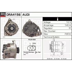 DRA4156X DR DRA4156X ALTERNATOR AUDI A4/A6/SKODA SUPERB/VW PASSAT 2.5/3.0 TDI 2001 - ; SZT REMY ALTERNATORY I ROZRUSZNIKI (PM) REMY [1108188]...
