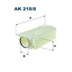 AK 218/8 F AK218/8 FILTR POWIETRZA MERCEDES C-KLASA/E-KLASA 1.8/2.0/2.2 08- SZT FILTRON FILTRY (PG) FILTRON [1463198]...