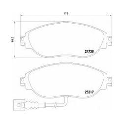 2473801 TX 2473801 KLOCKI HAMULCOWE VW GOLF VII 11- SEAT ALHAMBRA/VW PASSAT/SHARAN 08- KPL TEXTAR KLOCKI (PM) (GR) TEXTAR [1606447]...