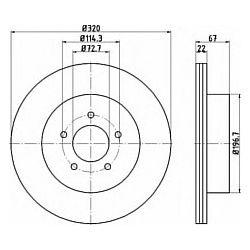 92177203 TX 92177203 TARCZA HAMULCOWA 320X22 V 5-OTW CHRYSLER 300 C 04- TYL SZT TEXTAR TARCZE (PM) (GR) TEXTAR [1606565]...