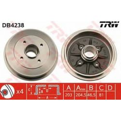DB4238 TRW DB4238 BEBEN HAMULCOWY CITROEN XSARA (N0/N1) 97-05/ ZX (N2) 93-97/ PEUGEOT 306 93- TRW SZT TRW TRW BEBNY (PM) (GR) TRW [1082480]...