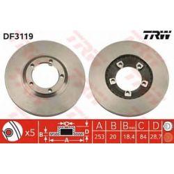 DF3119 TRW DF3119 TARCZA HAMULCOWA 253X20 V 5-OTWHYUNDAI H-1/H-100 2.4/2.5D 93& SZT TRW TRW TARCZE (PM) (PT) TRW [1079355]...