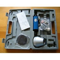 szlifierka pneumatyczna w walizce + osprzęt