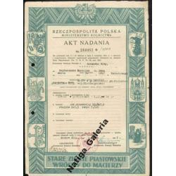 AKT nadania ziemi RP 1952 Gorzów Wlkp. (D00015)