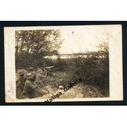 Stanowisko MG Maxim 08 Rumunia 1917 (F000044)