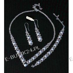UNIVIA* Biżuteria ślubna PERŁY Komplet Swarovski Biżuteria ślubna