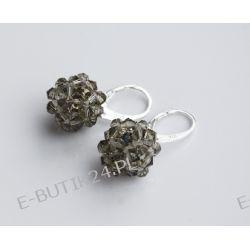 UNIVIA* Kolczyki gwiazdki GREY kryształ Srebro 925 Kolczyki