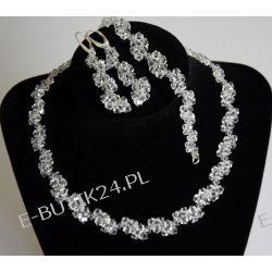 UNIVIA Biżuteria Ślubna KOMPLET kryształki CRYSTAL Biżuteria ślubna