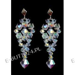 UNIVIA* Biżuteria ślub KOLCZYKI Crystal AB 5,3 cm Biżuteria ślubna
