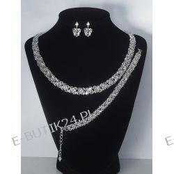 UNIVIA* Komplet biżuterii ślubnej Crystal Ślub Biżuteria ślubna
