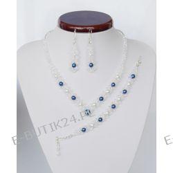 UNIVIA* Biżuteria ślubna PERŁY Komplet ŚLUB Wesele
