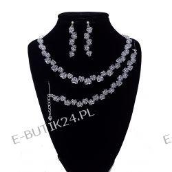 UNIVIA* Biżuteria ślubna Crystal Komplet Wesele