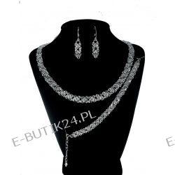 UNIVIA* Biżuteria Ślubna Komplet kryształ Crystal
