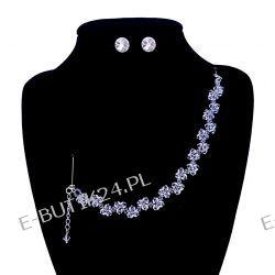 UNIVIA* Komplet Biżuteria ŚLUBNA Swarovski Crystal