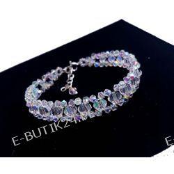 UNIVIA* Biżuteria ŚLUBNA bransoletka Crystal AB