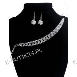 UNIVIA* Ślub  KOMPLET Kryształ biżuteria CRYSTALab Komplety