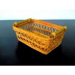 koszyk rattan ażurowy pomarańczowy