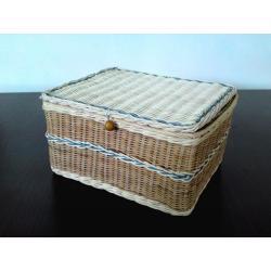 szkatułka rattanowa