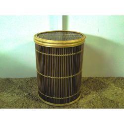 Kosze na pranie z bambusa brązowe