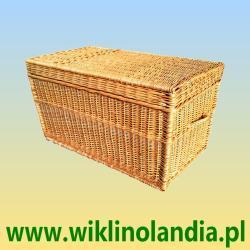 Kufer wiklinowy płaski bez obszycia