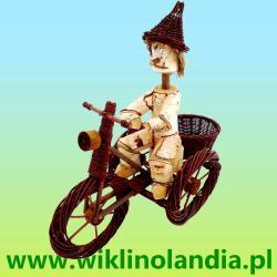 Pinokio ogrodowy na rowerze