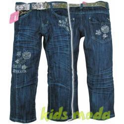 Jeansy dla dziewczynki r. 128