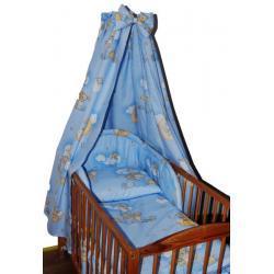 pościel dziecięca 4 el. z baldachimem  niebieskie misie na drabinie