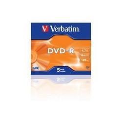 PŁYTA DVD-R VERBATIM 4,7 GB 16X SLIM 1 SZT.