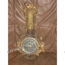 Barometr z termometrem w kolorze zlotym antyki gdynia komis